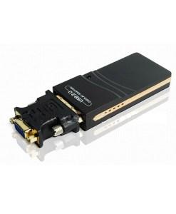 כרטיס מסך חיצוני USB 2.0 DVI-VGA To HDMI