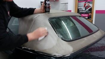 Cabrio-Verdeck reinigen - Fahrzeugpflege Massler