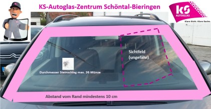 Sichtfeld Scheibenreparaturen - KS-Autoglas-Zentrum Schöntal-Bieringen