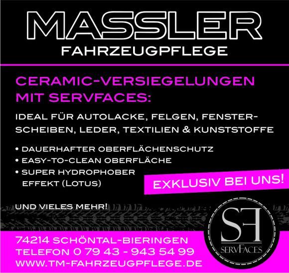 Fahrzeugpflege Massler aktuell: servFaces Ceramic-Versiegelungen