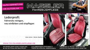 Mercedes SLK Lederaufbereitung des Fahrersitzes durch Lederprofi bei Fahrzeugpflege Massler