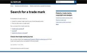 Online Trademark Search, UKIPO