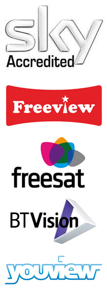 accredited Sky - Freeview - Freesat - BT vision and Youview Installer