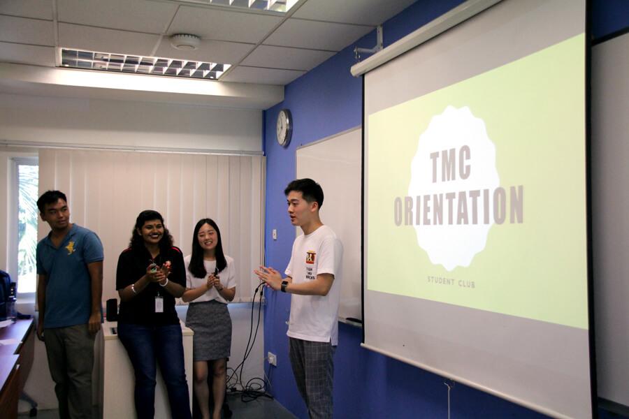 Erick, Student Club President - June 2017 Orientation Day @ TMC Academy