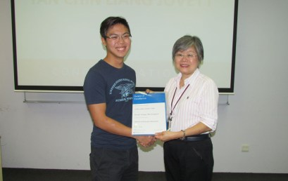Monash College Global Award of Excellence: Jovett Tan Chin Liang