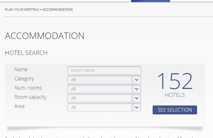 Accommodation search @Barcelona Convention Bureau