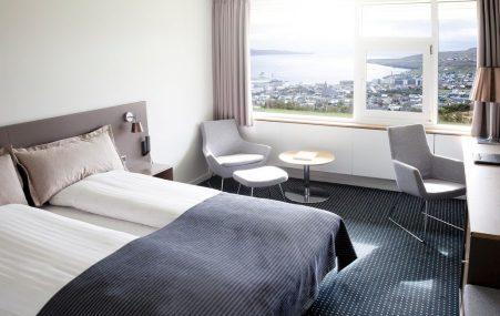 Standard double room at the Føroyar Hotel © Hotel Føroyar