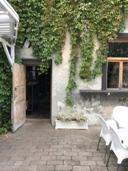 Cesis Restaurant backyard