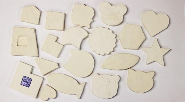 かるかるクッキータイル 試作 紙粘土