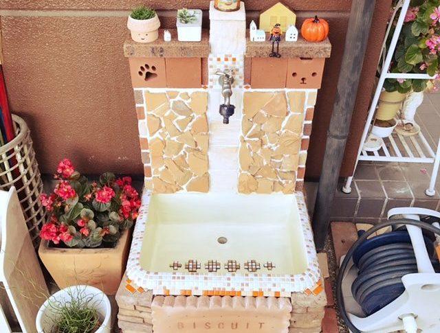 429.✨すっごく可愛い立水栓ですね!レンガの形も可愛いし、全体的な色も素敵です!💕