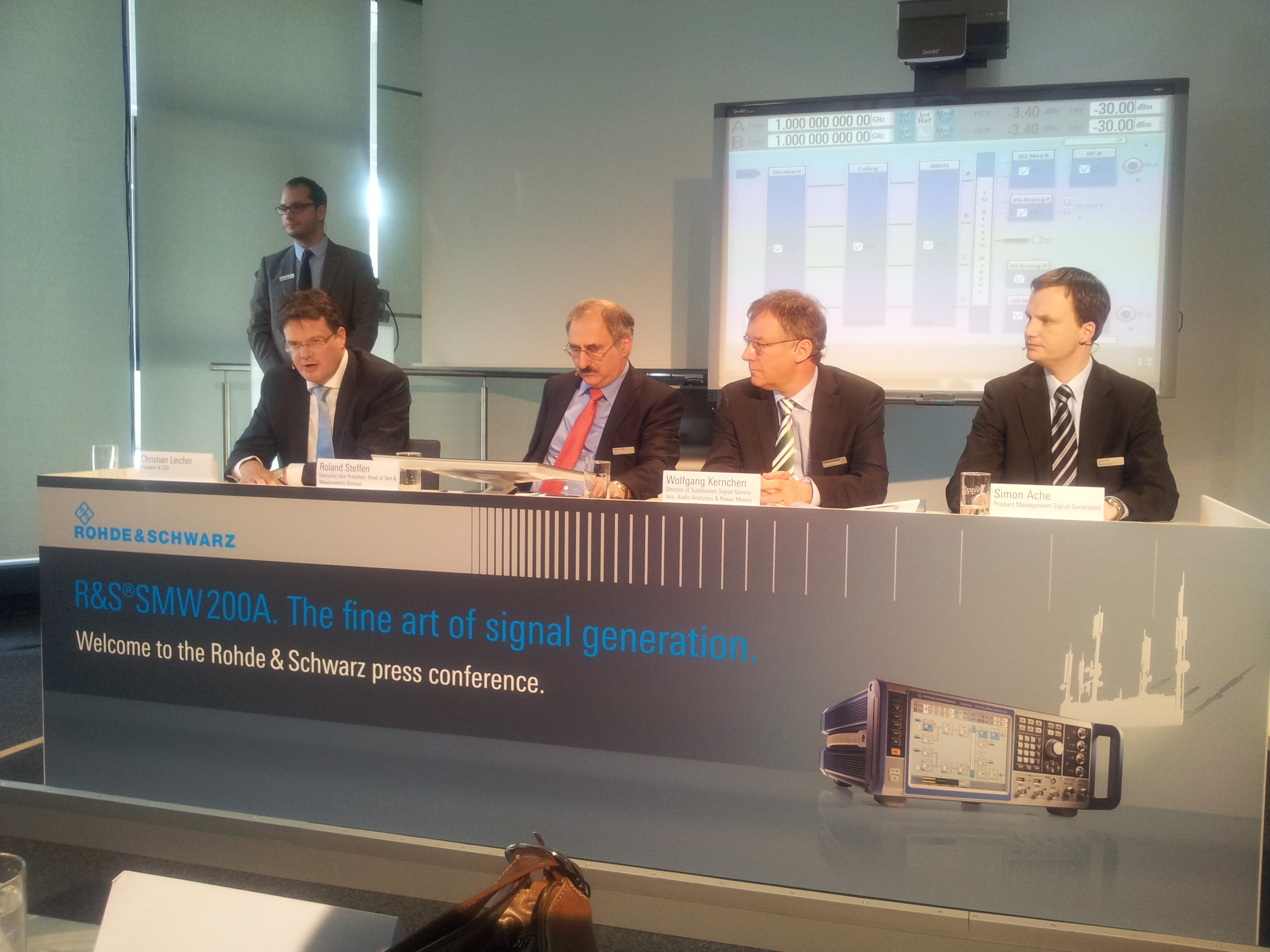 Press Conference Of Rohde Amp Schwarz