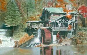 On Lake Sequoia Watercolor by David Jones