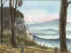 Scenic Vista Watercolor by David Jones