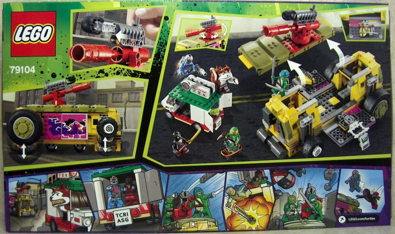 Teenage Mutant Ninja Turtles Lego The Shellraiser Street
