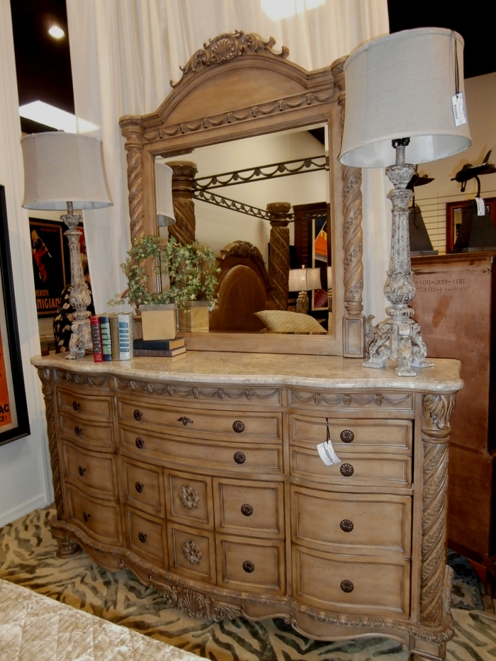 ashley dresser mirror at the missing