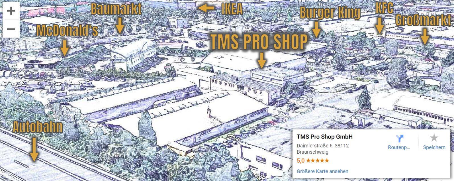 TMS Pro Shop und Umgebung