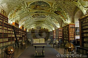 Old-fashioned library