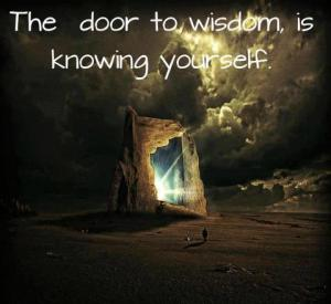 The door to wisdom is knowing yourself
