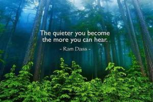 "The quieter you become, the more you can hear."" -Ram Dass"