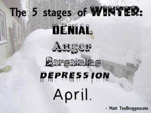 The five stages of winter