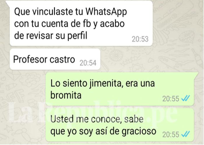 whatsapp, profesora, identidad,