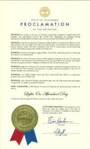 Lights on Afterschool Proclamation