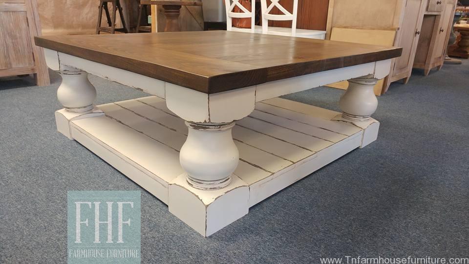 turned corner leg coffee table
