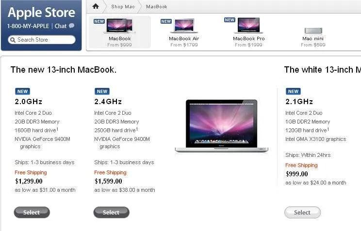 Apple Store - The New 13-inch MacBook - October 14, 2008