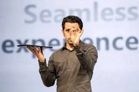 Panos Panay unveiling the Microsoft Surface