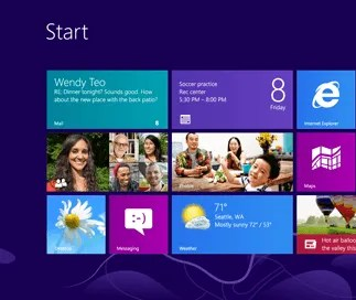 The first screen in Windows 8