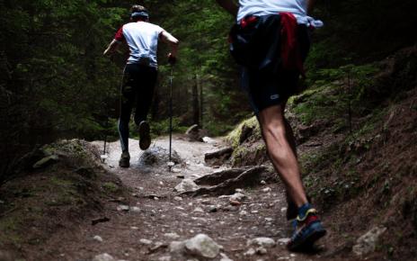 two men hiking