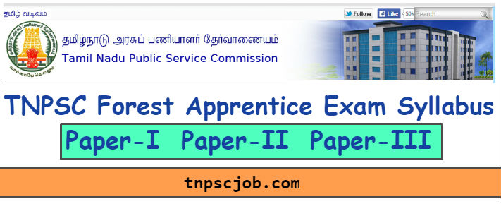 TNPSC Forest Apprentice Syllabus 2018