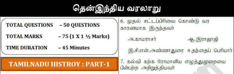 TNPSC South Indian History Part 1