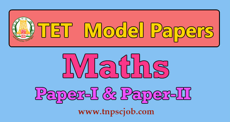 TNTET Maths Model Question Paper