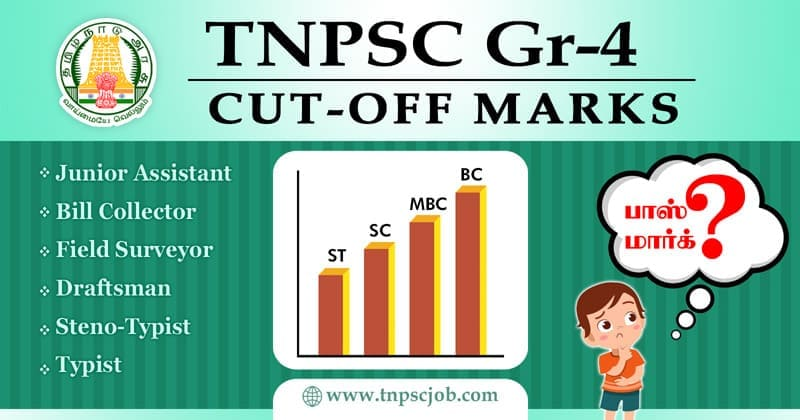 TNPSC Group 4 Expected Cut Off Marks and Pass Marks