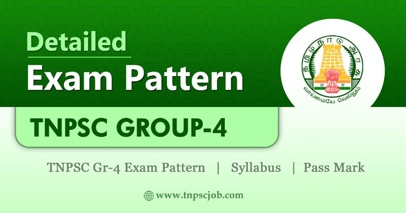 TNPSC Group 4 Exam Pattern 2020