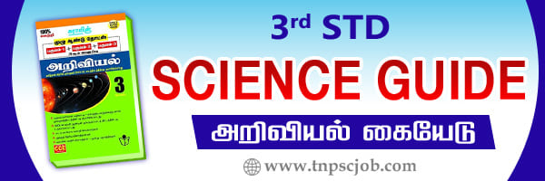 3rd Standard Science Guide in Tamil and English