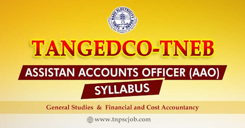 TANGEDCO TNEB Assistant Accounts Officer Syllabus 2021
