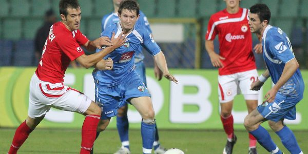 Europa League 4th Round Play off 1st Leg  CSKA Sofia v The New Saints TNS  3-0  Pic is Christian Seargeant    PB511-2010