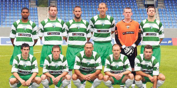 The New Saints TNS in Reykjavik for their Europa League game v Fram Reykjavik of Iceland