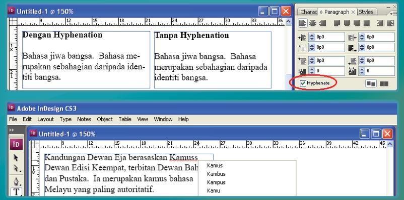 Spell checker in Dewan Eja Pro for Adobe InDesign Screenshot
