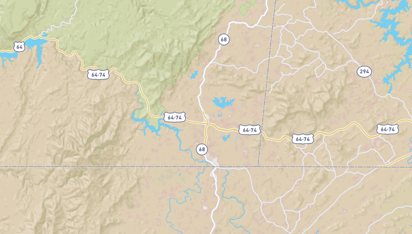 Map Tennessee Cities Easy
