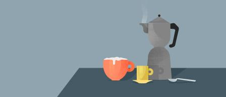 Café discussion visuel
