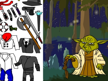 Dress up yoda game   To14 com   Play now