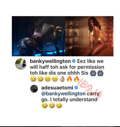 See What Happened Between Banky W, His Wife, Adesua Etomi & Tiwa Sage