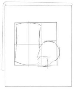 Proportionally drawn flowerpot. C. Rosinski