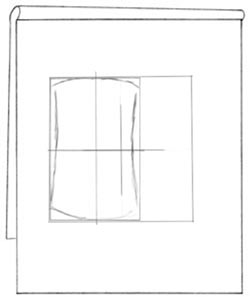 Proportional sizing square with bounding box and vase blocked in. C. Rosinski