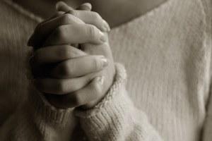 Praying woman hands