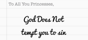God Does Not Tempt You To Sin