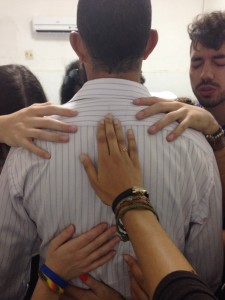 Praying for Pastor in Fortaleza, Brazil